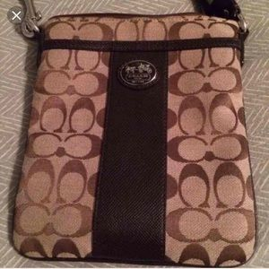 Brown Coach crossbody purse